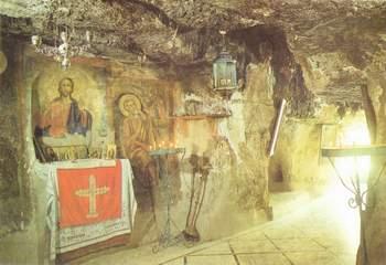 Фото пещеры святого ильи пророка в храме георгия хозевита